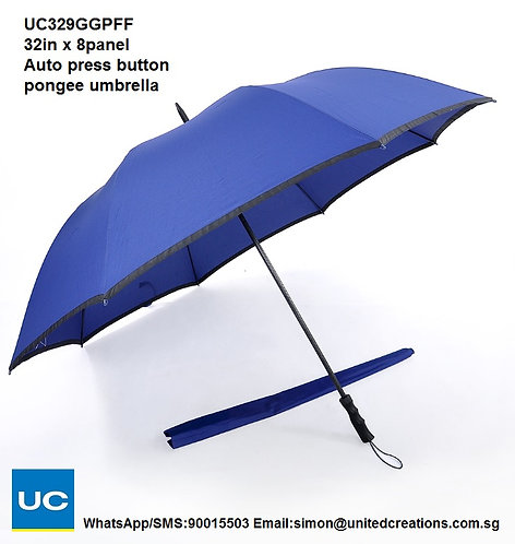 UC329GGPFF 32in x 8panel Auto press button pongee umbrella