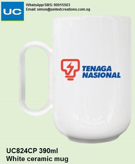 UC824CP 390ml White ceramic mug