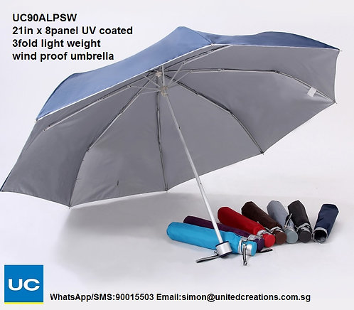 UC90ALPSW 21in x 8panel Light weight wind proof umbrella