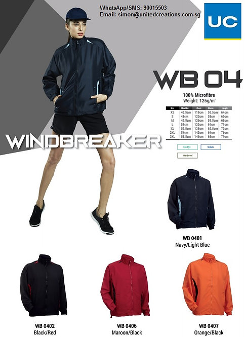 WB04 Microfibre windbreaker