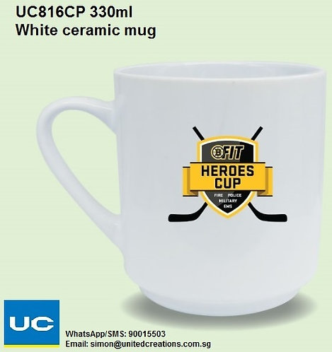 UC816CP 330ml White ceramic mug