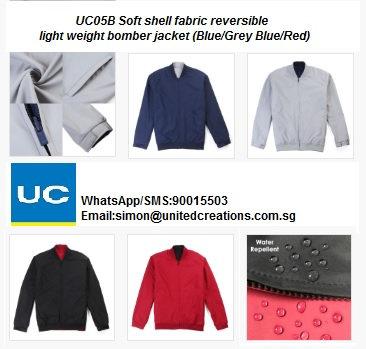 UC05B Soft shell fabric reversible light weight bomber jacket