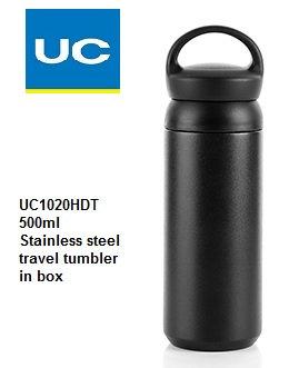 UC1020HDT 500ml S/steel travel tumbler in box