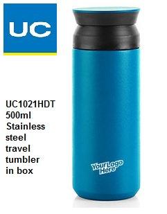 UC1021HDT 500ml S/steel travel tumbler in box
