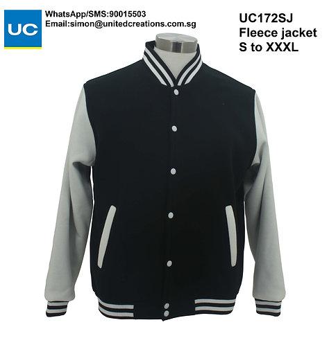 UC172SJ Black fleece jacket