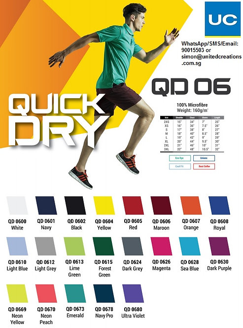 QD06 Quick dry polo tee