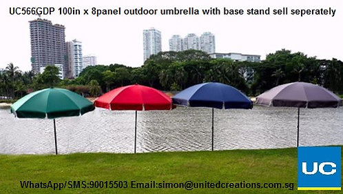 UC566GDP 100in x 8panel Outdoor umbrella with base sell separately