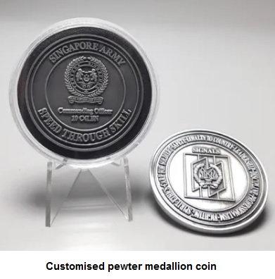 Customized pewter medallion award