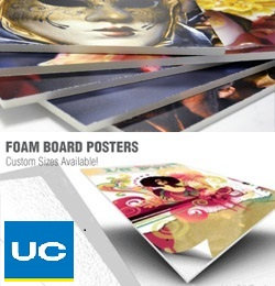 Customized poster printing with foam backing