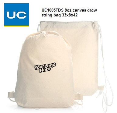 UC1005TDS 8oz canvas draw string bag