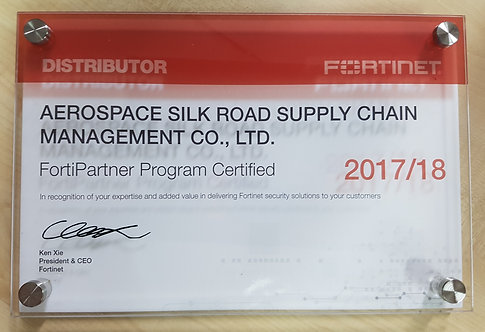 Customized embedded acrylic award with UV printing