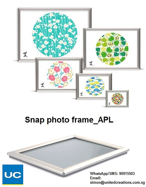 Snap aluminum photo frame
