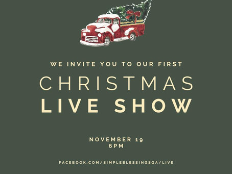 Simple Blessings announces it's first Facebook Live Show
