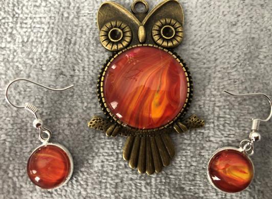 Orange collection: Pendant & earrings