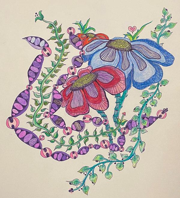 Crayons & ink