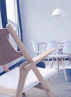 Weiß Hölzerne Stühle