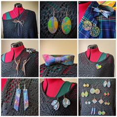 Hand-painted Recycled Denim Accesories