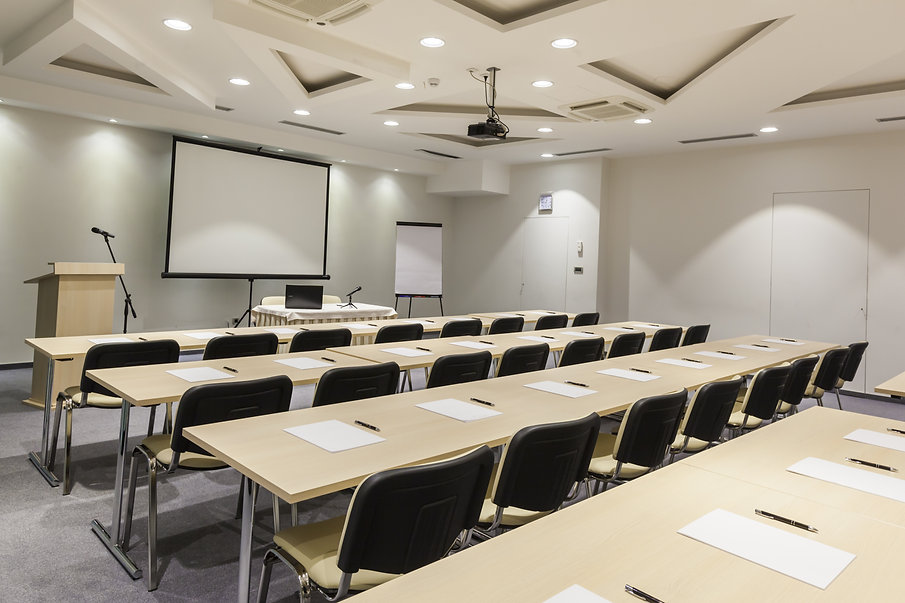 Interior of a modern conference hall .jp