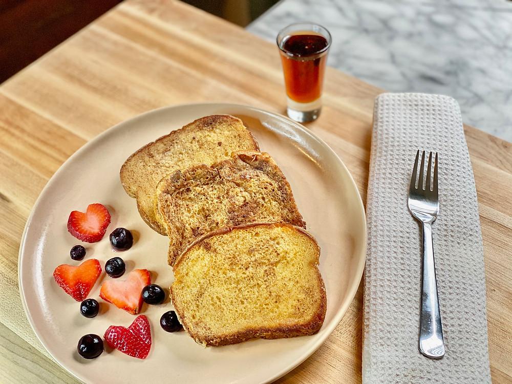 French toast from Desserts Capital Philadelphia Pennsylvania