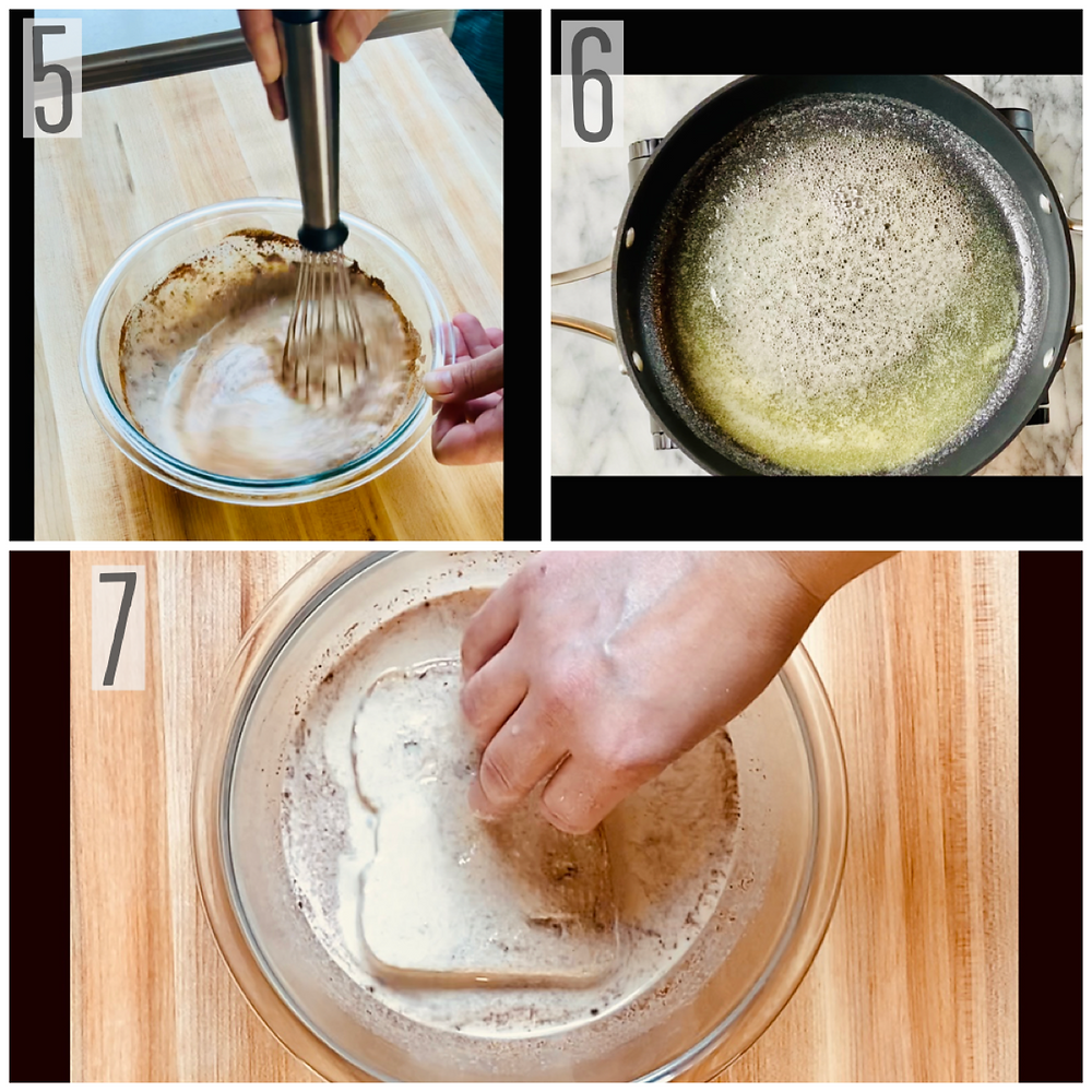 Pictorial of cooking method for French toast recipe