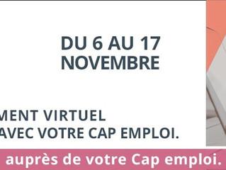 """""""Job pour tous"""" le 1er salon virtuel gratuit en partenariat avec votre Cap emploi. Actiphe"""