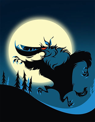 Halloween Werewolf Illustration