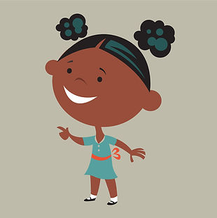 African American Girl illustration