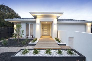 Extérieur de la maison moderne