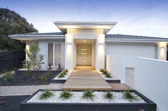 Exterior de la casa moderna