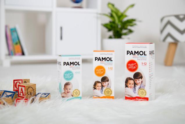 Pamol packaging photo