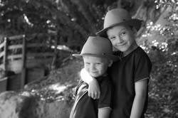 Outdoor brothers portrait