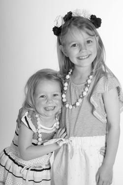 sisters studio portrait