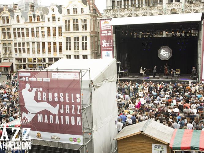 Bruce Ellison & Jellodies au Brussels Jazz Marathon Grand Place 2016