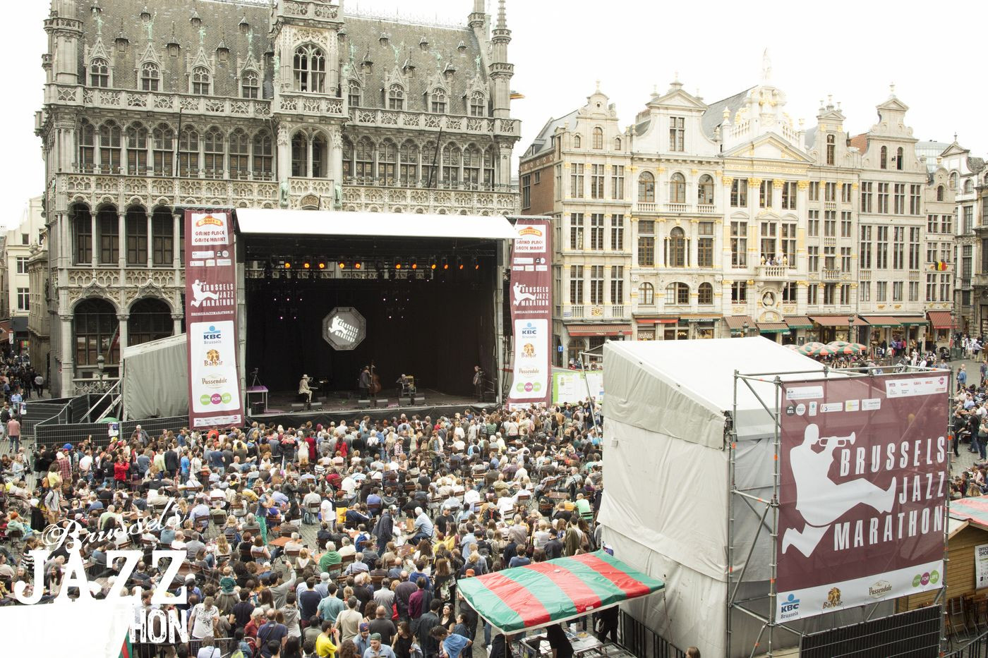 Bruce Ellison & Jellodies au Brussels Jazz Marathon Grand Place 2016