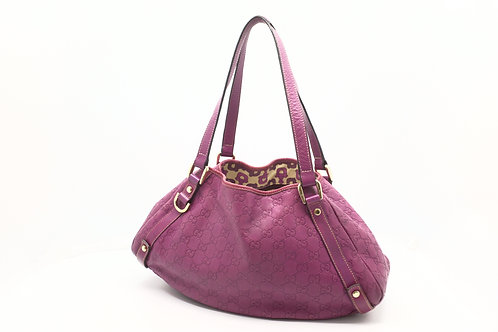 Gucci Shoulder / Handbag Guccissima Purple Leather