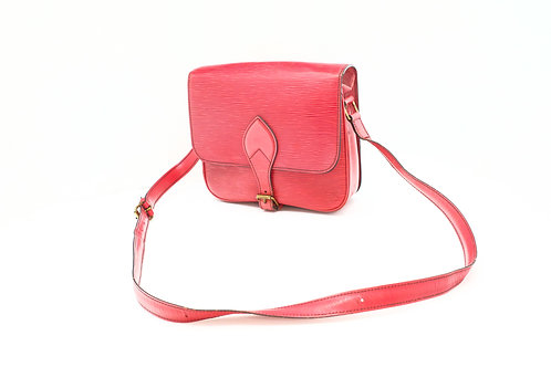 Louis Vuitton Cartouchiere Bag in Epi Red Leather