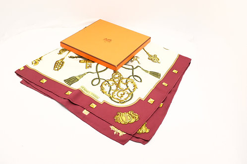 Hermes Scarf Carre Le Cles 90 Silk Caty Latham