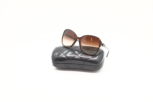 Chanel Sunglasses Side Ribbon Bow Brown Lens