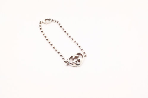 Gucci Interlocking Hearts Bracelet in Sterling Silver