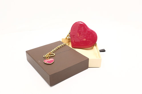 Louis Vuitton Heart Coin Case in Indian Rose Vernis Leather