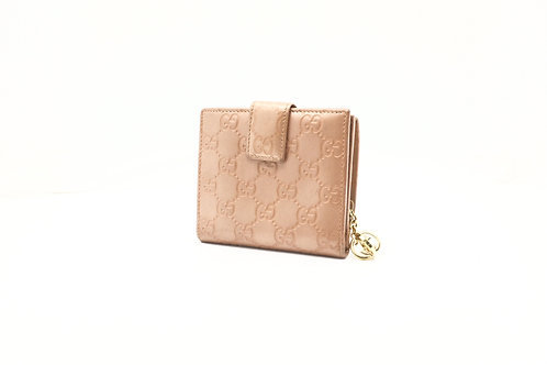 Gucci Compact Wallet in Pink Guccissima Leather