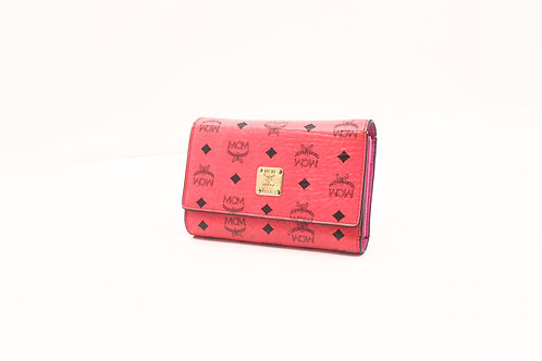 MCM Compact Trifold Wallet Pink