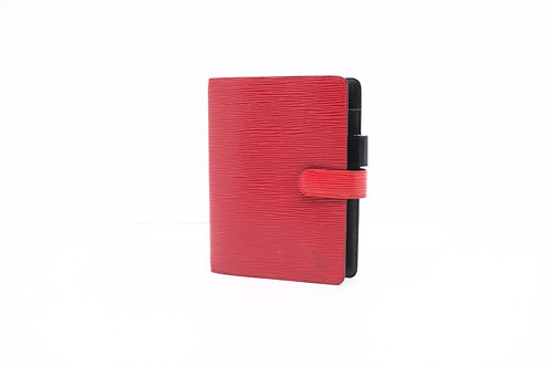 Louis Vuitton Agenda MM Epi Red
