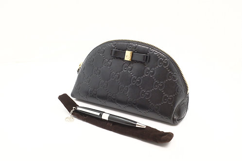 Gucci Cosmetic Pouch in Guccissima Leather with Black Pen