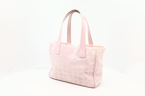 Chanel New Travel LineTote Bag PM in Pink Nylon