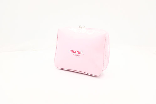 Chanel Novelty Cosmetic Pouch in Pink Enamel