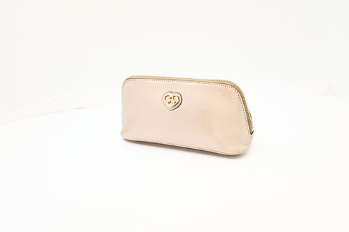 Gucci Lovely Heart Cosmetic Pouch in Champagne Gold