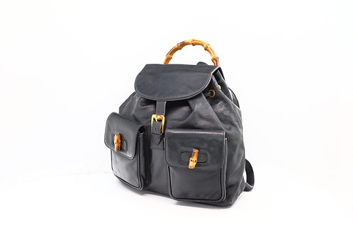 Gucci Bamboo Backpack in Black Leather