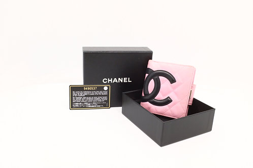 Chanel Cambon Compact Wallet Pink