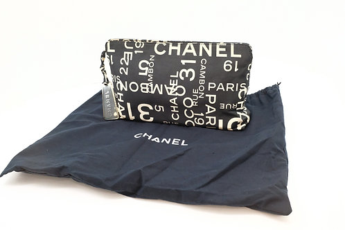 Chanel By Sea Pouch in Black Canvas